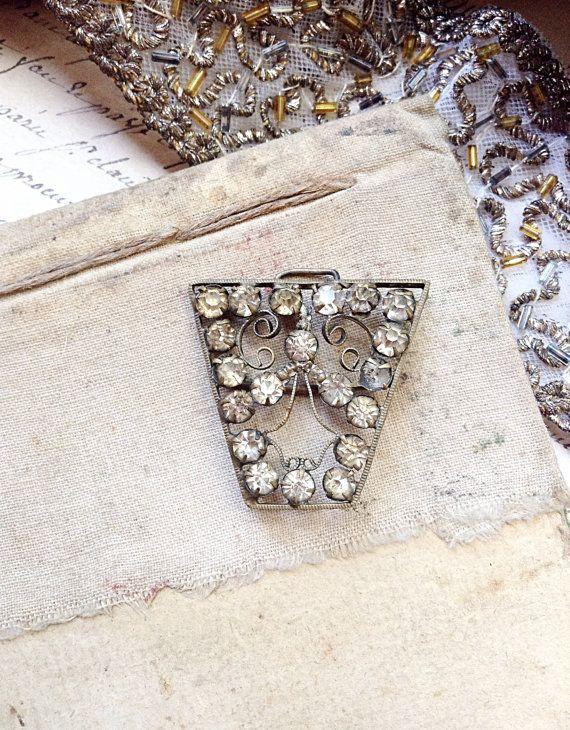Gorgeous Antique Crystal Rhinestone Dress by MyVintageSupplies