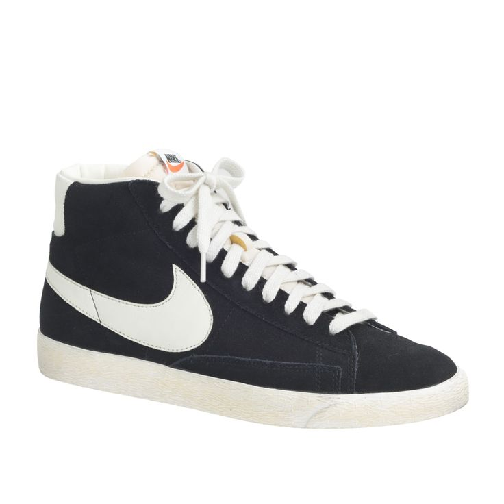 600b16d1fc5 Men s Nike Blazer high suede vintage sneakers in black sail at J.Crew.