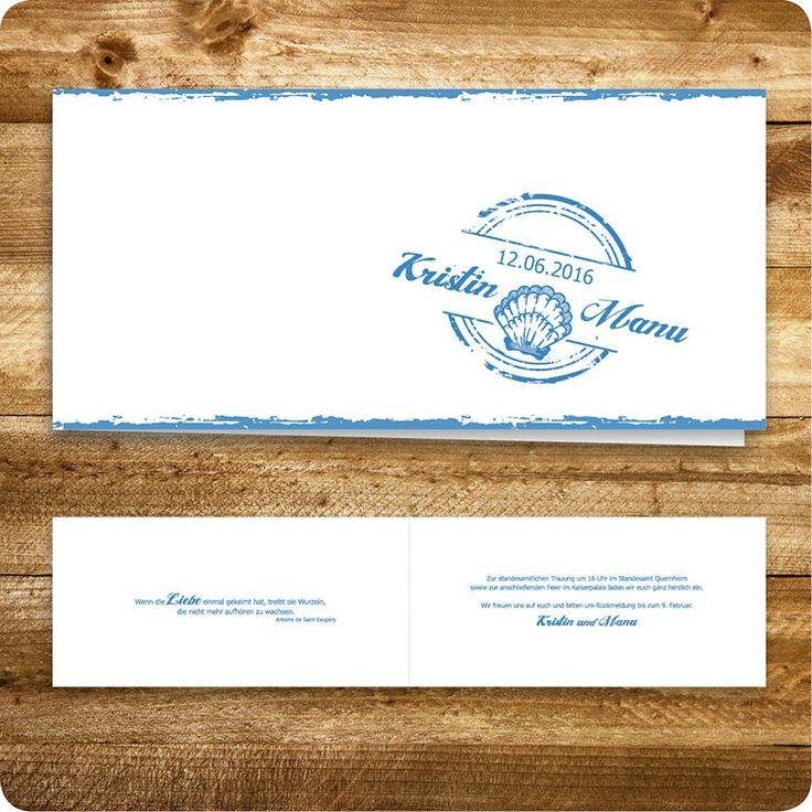 Schön Einladungskarte Maritim, Hamburg, Einladung Für Hochzeit, Individuell  Designed By Die Kartenfrau