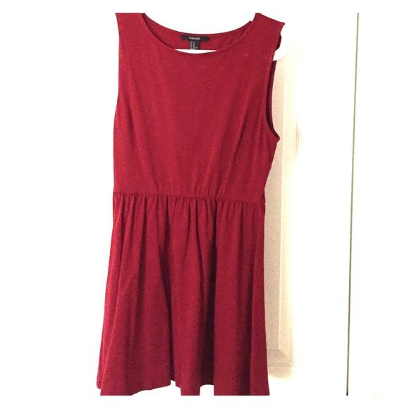 Maroon skater dress Cute maroon skater dress, cute with accessories and a hat Forever 21 Dresses Midi