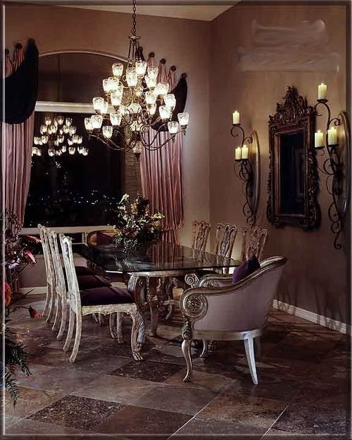 Luxury Italian Dining Room Furniture Ideas Curtains And Window Treatments