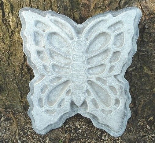 plastic butterfly w/ base stepping stone concrete plaster mold  #Gostatueexclusive