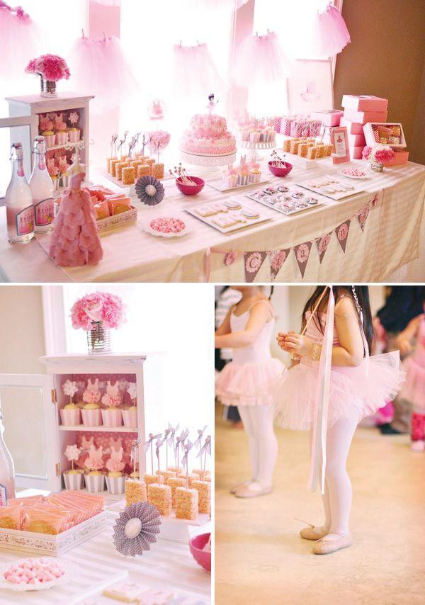 Pink Tutu Inspired Ballerina Birthday Party. Super cute!!