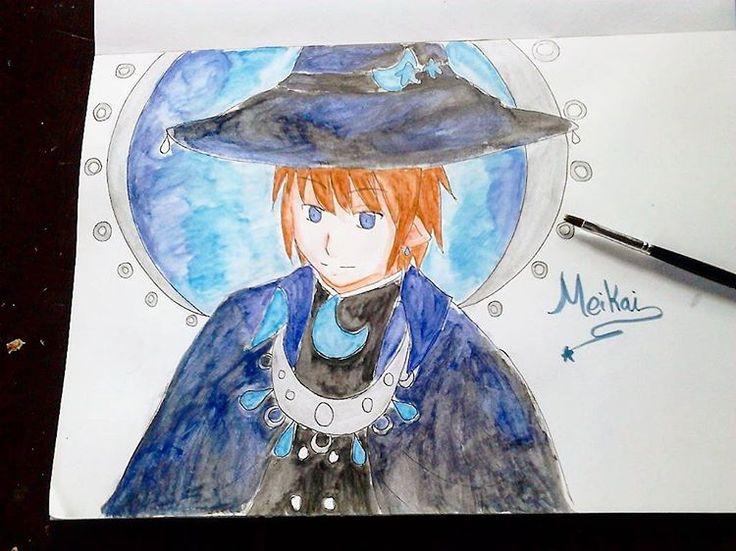 Meikai, The Great Sorcerer.  #drawing #doodle #sketch #sketchart #animeartshelp #anime #fanart #mogeko #mogemoge #wadanohara #rpg #instamood #instagram #instaart