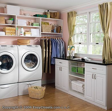 I want to have my laundry room like this!