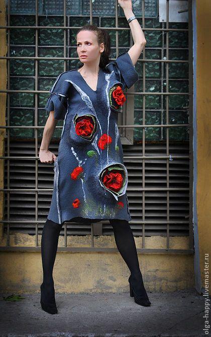 Платья ручной работы. Ярмарка Мастеров - ручная работа Валяное арт-платье Откровение. Handmade.