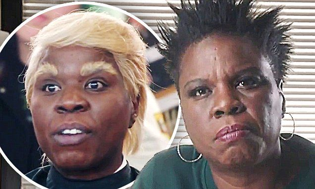 Leslie Jones attempt to play President Trump in SNL skit | Daily Mail Online