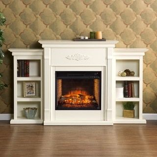 Harper Blvd Tomlin Ivory Bookcase Infrared Electric Fireplace By Harper Blvd