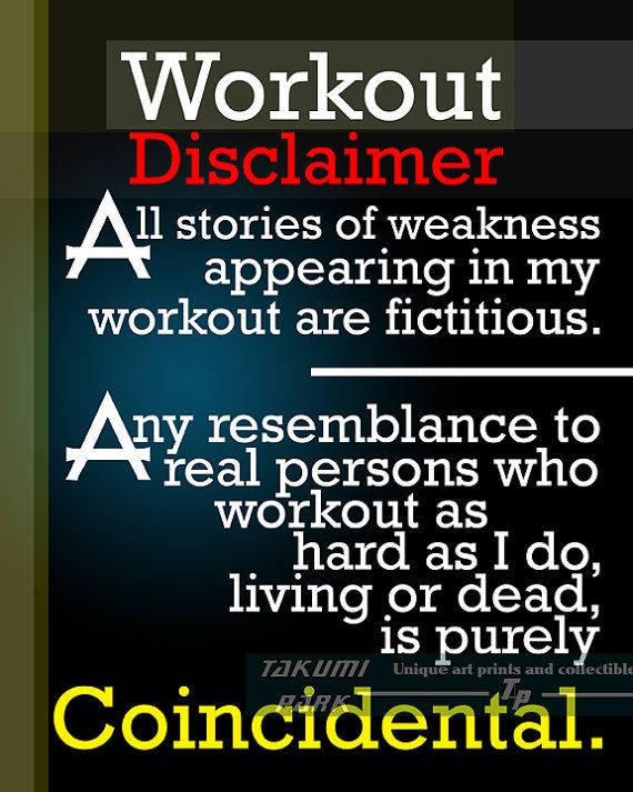 Hard Work Quote Workout Disclaimer Quote Art Print Gym Etsy Hard Work Quotes Gym Quote Work Quotes