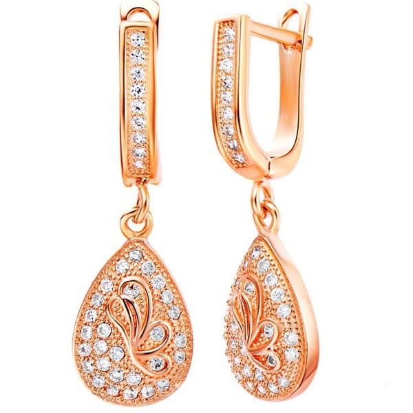 This item is Shinning Rhinestone Jewel Butterfly Drop Earrings. According to your own personal preferences, you can match it with beautiful clothes at different seasons. The following occasions, anniversary, engagement, gift, party, wedding, etc. are propitious to wear it.