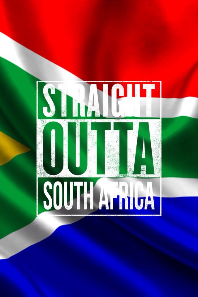 South African Flag w/ The Straight outta meme app