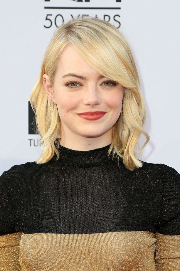 Hairstyles For Round Faces Emma Stone #E…