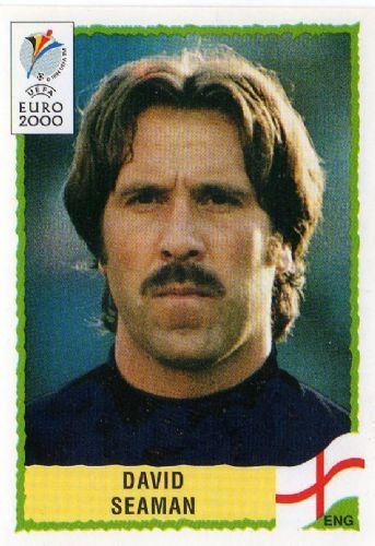 David Seaman of England. Euro 2000 card.