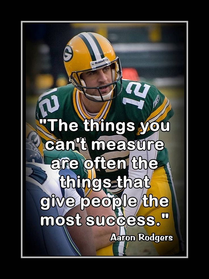 Inspirational Aaron Rodgers Football Quote Wall Art
