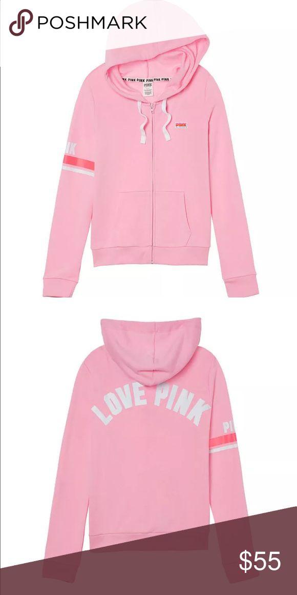 NWT VS PINK Zip Up Hoodie - Cupid Pink - Medium NWT VS PINK Zip Up Hoodie - Cupid Pink - Medium PINK Victoria's Secret Jackets & Coats
