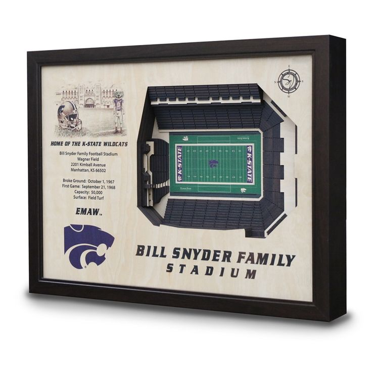 Kansas State Bill Snyder Family Stadium 3D View Wall Art