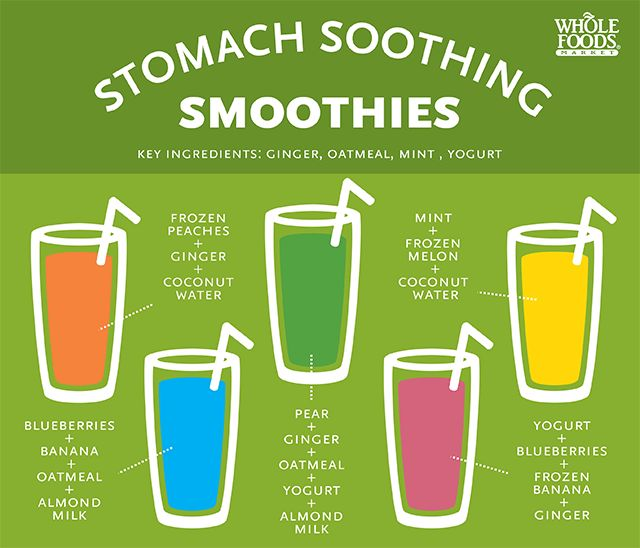 Five stomach soothing smoothie recipes from Whole Foods Market. GESWhereMyPeepsAt