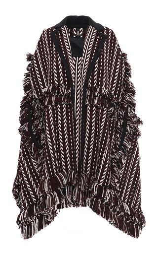 Knit Jacquard Blanket Cape by BURBERRY for Preorder on Moda Operandi