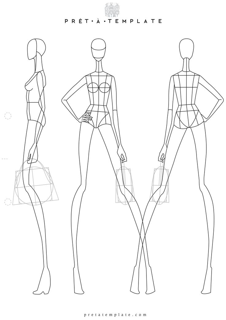 Woman body figure fashion template (D-I-Y your own Fashion