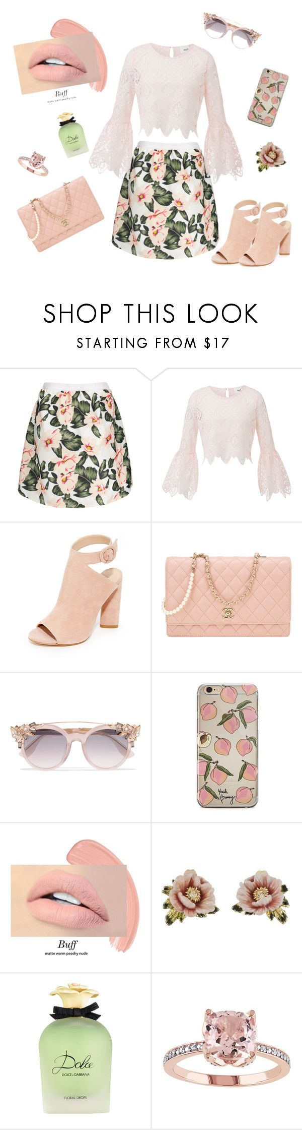 """""""Madgirl's Love Song"""" by timmermanellen ❤ liked on Polyvore featuring Kendall + Kylie, Chanel, Jimmy Choo, Les Néréides and Dolce&Gabbana"""