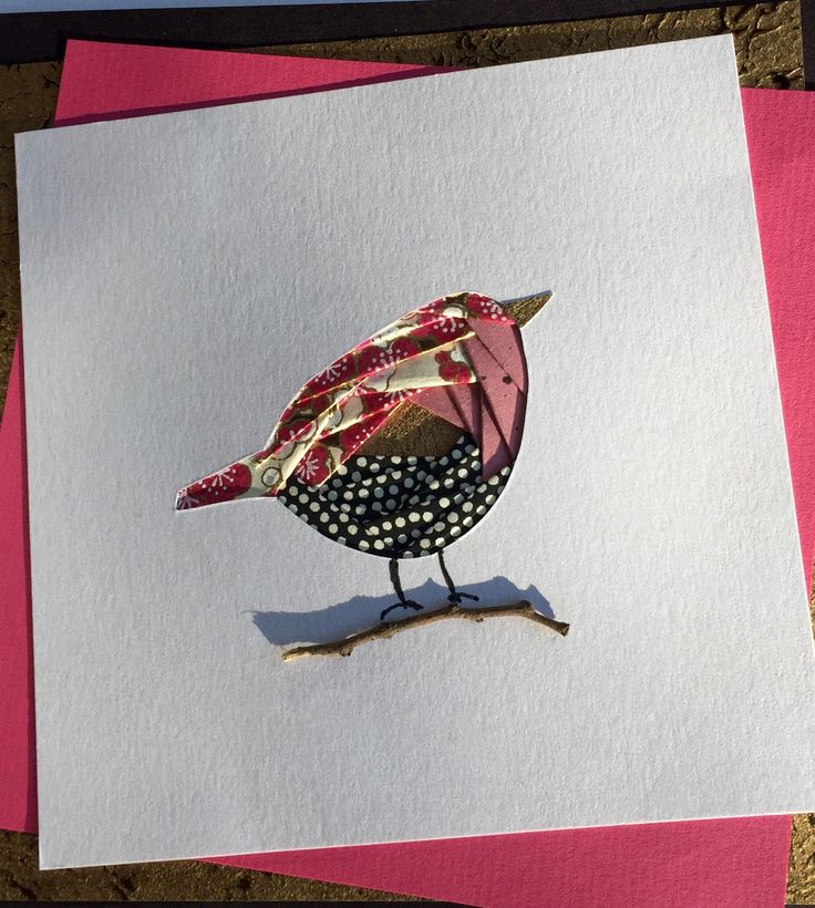 Card made using iris folding technique