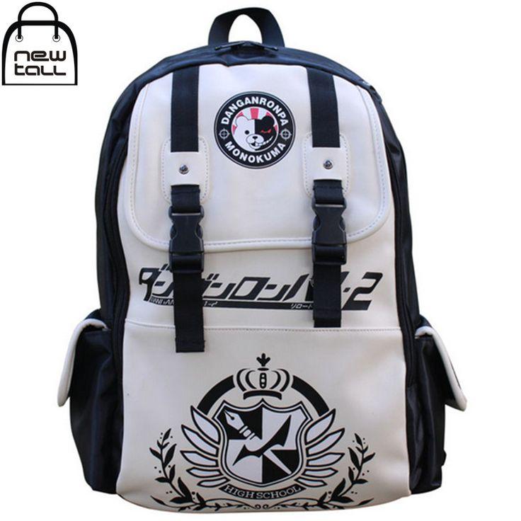 Anime Dangan Ronpa danganronpa Monokuma Cute School Backpack Shoulder Bag