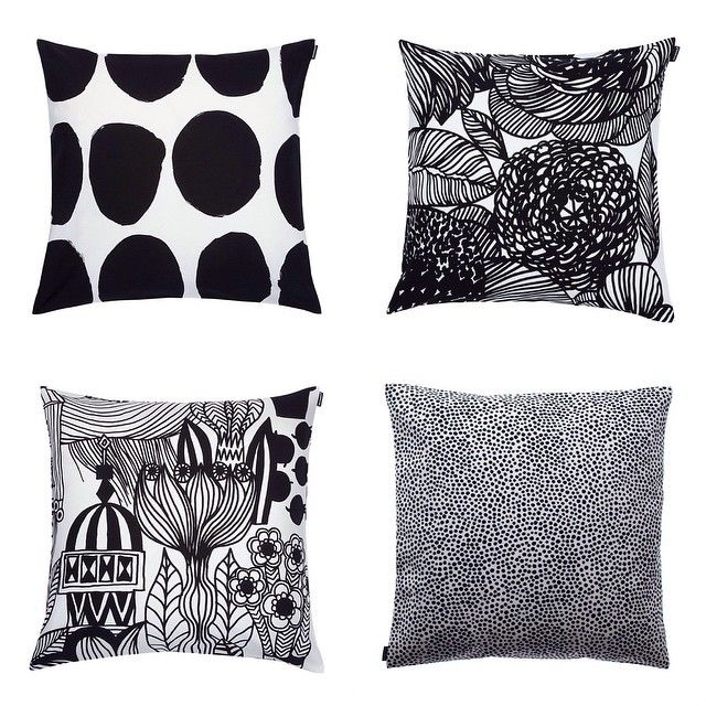 Yes please! This mix on any sofa…or bed…or chairs. // #marimekko #marimekkohome #artofprintmaking // Full selection on marimekko.com