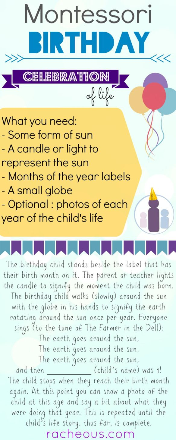 Montessori Birthday Celebration of Life