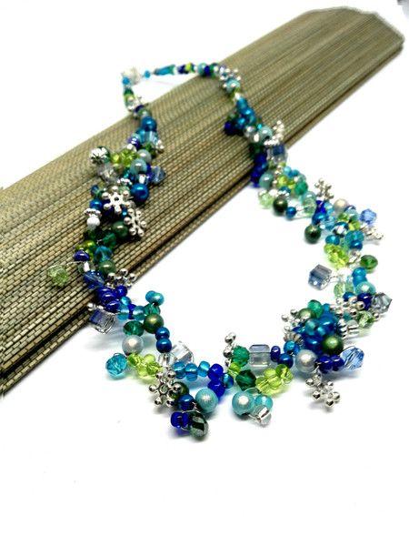 Ketten kurz - Kette türkis Collier grün blau silber Toll Mix - ein Designerstück von Oase-der-Perlen bei DaWanda