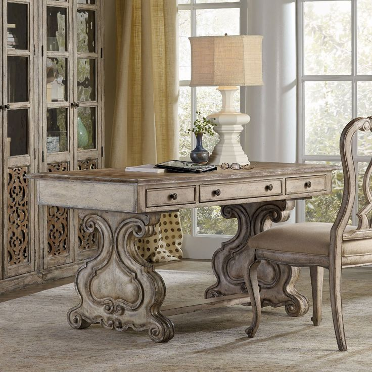 Hooker Furniture Chatelet Trestle Writing Desk | from hayneedle.com