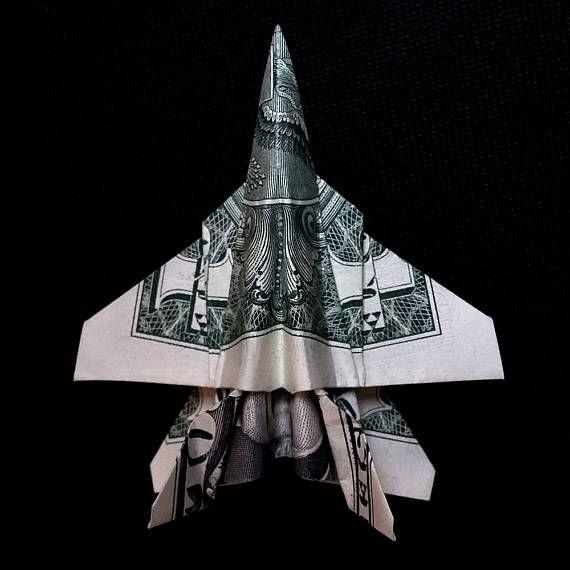 Origami Sculpture F-18 HORNET Jet Fighter Plane 3D Art Gift