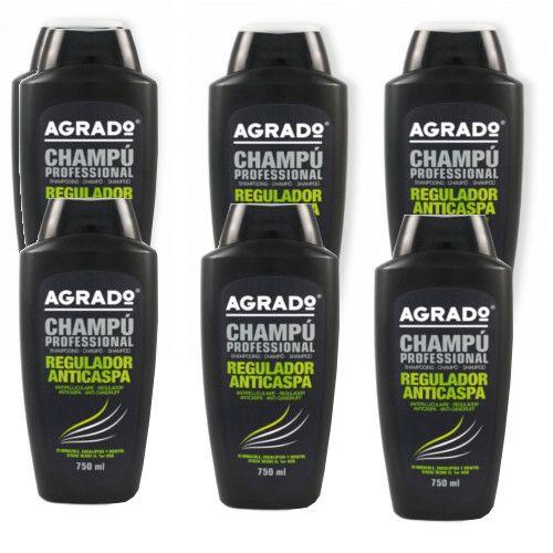 Shampooing  Traitement anti pelliculaire 750Ml - Agrado Le shampooing Traitement régulateur anti pelliculaire de Agrado , est formulé avec du climbazole, de l'eucalyptus et du menthol. Ses ingrédients rendent efficace dès la première utilisation, il rafraichit et réduit les démangeaisons du cuir chevelu. Il est recommandé pour tous les types de cheveux.
