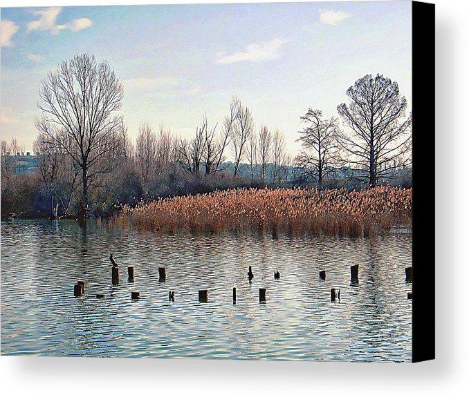 Lago Di Chiusi Tuscany Canvas Print by Dorothy Berry-Lound.  #lagochiusi #tuscany