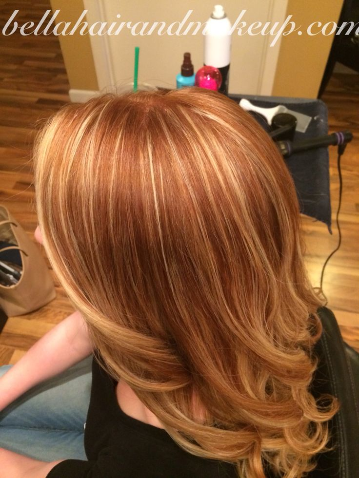 Whitney Renee' Anderson*** My beautiful natural red headed client with a balayage/foil by Whitney Renee Anderson