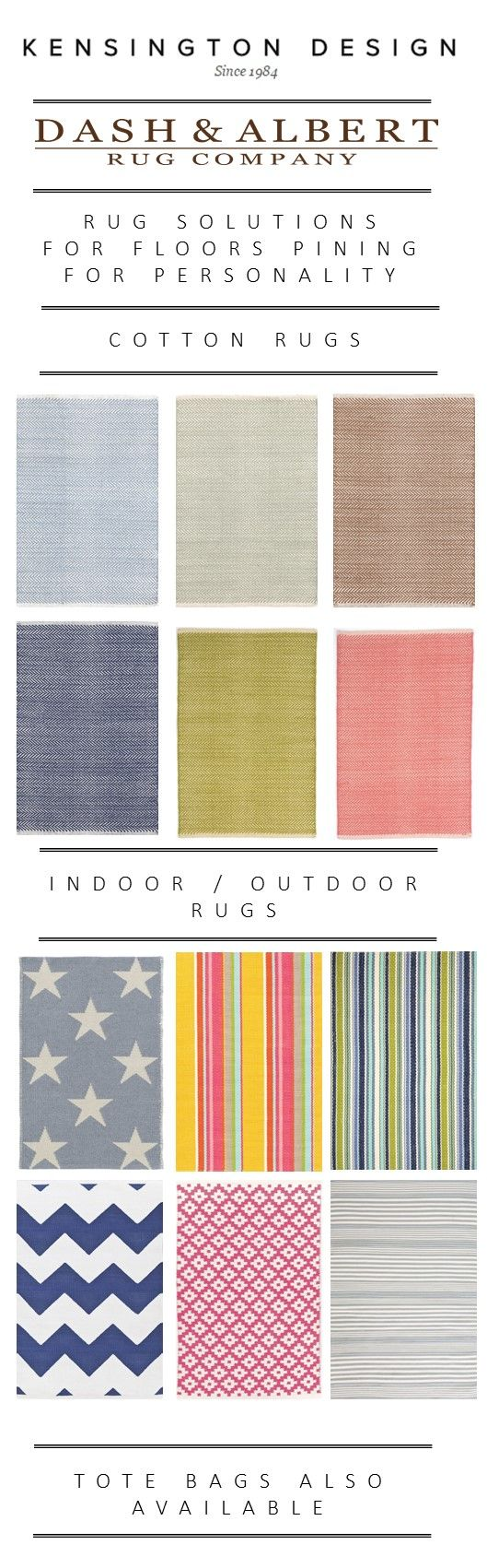 Dash & Albert Rugs. Contemporary rugs in a spectacular variety of colours & sizes. Both for indoor and outdoor use.