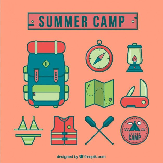 Free vector Summer camp icons #6604