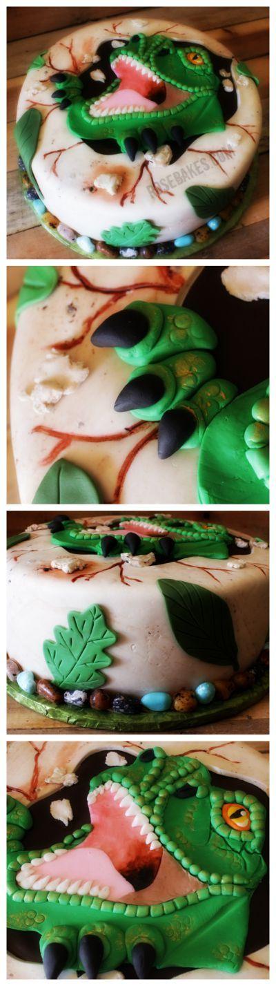 T-Rex Dinosaur Cake #Jurassic