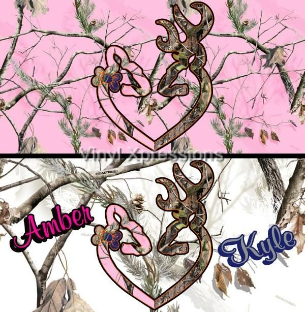 caMO Pink Accessories for Cars | Camo Pink Deer Browning Heart Custom Personalized Free Metal Auto ...