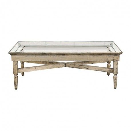 "GRANDE TABLE BASSE collection ""BOIS MIROIR"""