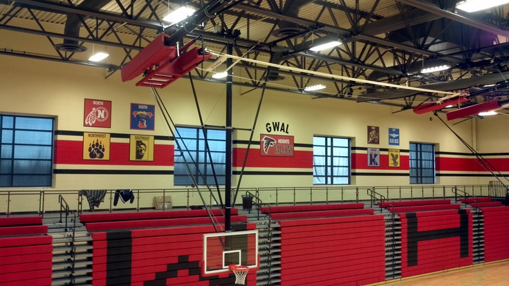Heights High School Gym- Signs and Design updated their look with vinyl graphics, eliminating the time and expense of repainting!