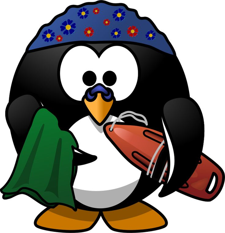 Swimmer Penguin by Moini - A penguin equipped with everything for a day at the beach! --- Dedicated to Blöki