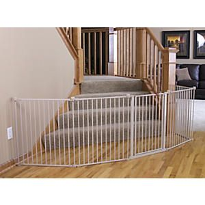 Multi-Use Metal Play Yard and Wide Baby Gate