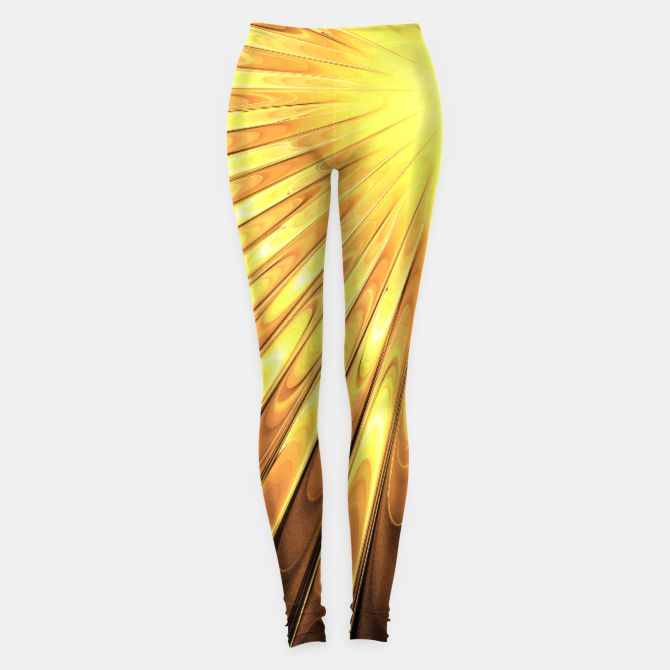 Gold Sun Leggings, Live Heroes @liveheroes by @photography_art_decor. All product: https://liveheroes.com/en/brand/oksana-fineart #fashion #clothing #online #shop #liquid #psychedelic #abstract #golden #metalic #gold #sun #yellow #abstract #ray #briht #pattern #wave #trendy #stylish #fashionable #modern #awesome #amazing #clothes #summer