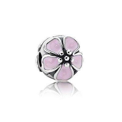 Cute cherry blossom charm in sterling silver and pink enamel. $55 #PANDORA #PANDORAcharm #SS13
