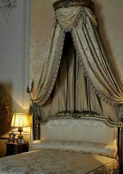 French Bedroom Classic Elegance Pinterest Bedrooms Bed Crown And Canopy