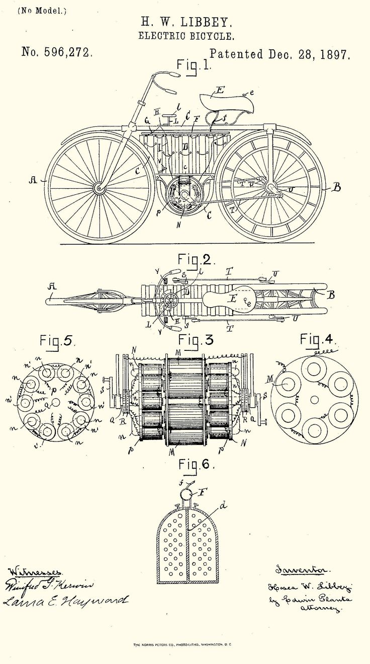 H. W. Libbey's Electric Bicycle - (SILODROME)