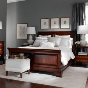 Move over beige. Gray is the new neutral. We are using it everywhere, from paint (seen here) to fabrics to furniture. It works with every color and lifestyle. It's here to stay. Neutral interiors. Gray bedrooms.