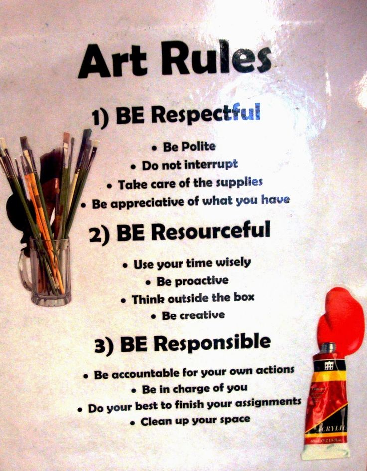 Modern Classroom Rules : Managing the art classroom rules procedures new