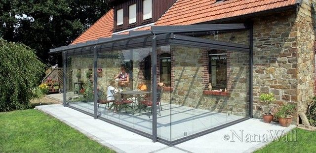 I want to spend my summer days outside! The NanaOutdoor Room consists of the glass canopy, which is surrounded by the frameless opening glass wall system N
