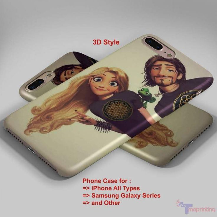 Tangled Rapunzel Punk love BMTH Album - Personalized iPhone 7 Case, iPhone 6/6S Plus, 5 5S SE, 7S Plus, Samsung Galaxy S5 S6 S7 S8 Case, and Other